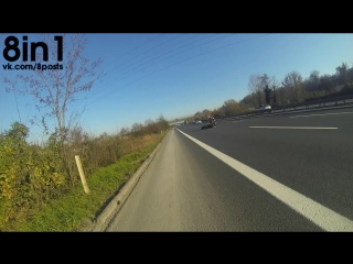 Дтп - кавасаки ниндзя чуть не врезается в ямаху р6, турция / motosi̇klet kazasi motorcycle crash zx10r and r6