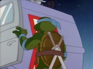 Черепашки Мутанты Ниндзя (1987). Сезон 4, серия 54. Неопознанный летающий Леонардо (Unidentified Flying Leonardo)