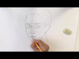 Как нарисовать лицо человека карандашом -
