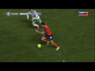 Чемпионат Франции 2014-2015 / 16-й тур / Монпелье - Сент-Этьен / 1 тайм [720p, HD]