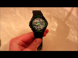 Видео подтверждение водонепроницаемости наручных часов S-SHOCK