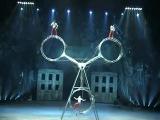 Единственный цирк ДЮ СОЛЕЙ показывающий этот номер Колесо смерти
