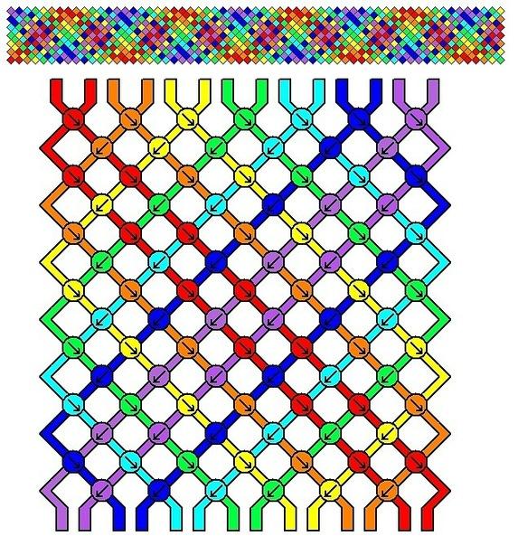 схемы фенечек из мулине от 13