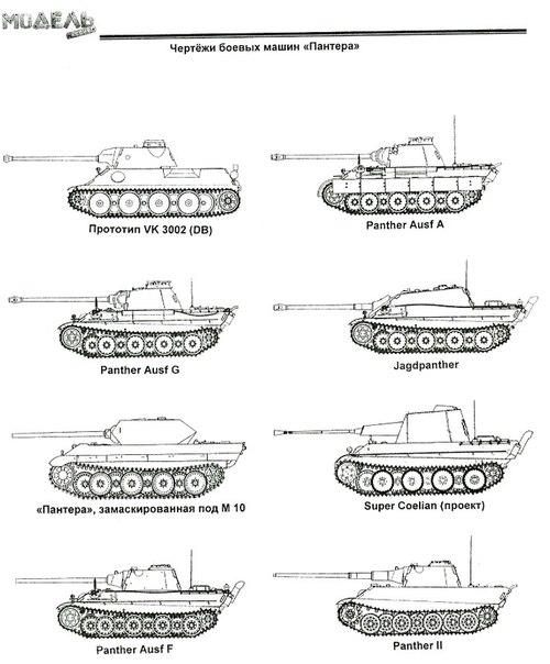 танк пантера викройка