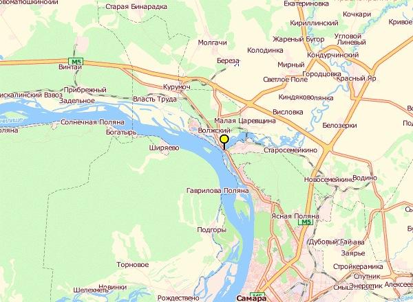 Схема проезда от Тольятти