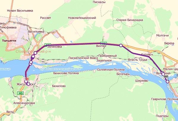 Схема проезда от Сызрани