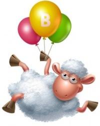 """Предпросмотр - Схема вышивки  """"Овца на шариках """" - Схемы автора  """"Korin """" - Вышивка крестом."""