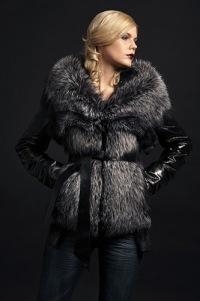 кожаные меховые куртки с песца женские фото