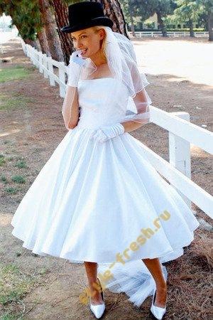 короткие пышные свадебные платья (35.