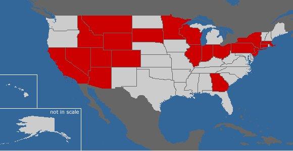 Карта Штатов