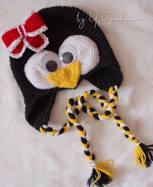связав и шапочку пингвина!
