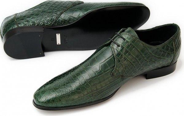 Туфли мужские из кожи крокодила, глянцевые, ручная работаВерх - 100% кожа аллигатораПодкладка - телячья кожаПодошва.