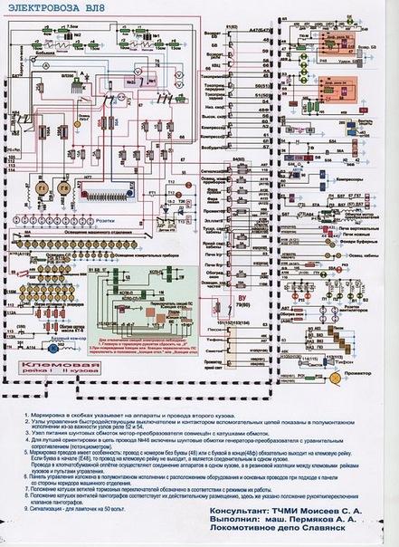 Схемы ВЛ8