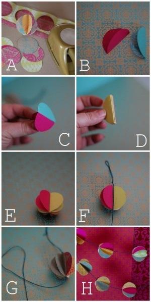 Всё, что вам понадобится для изготовления гирлянды это: бумага разных цветов и рисунков (лучше вторичная...