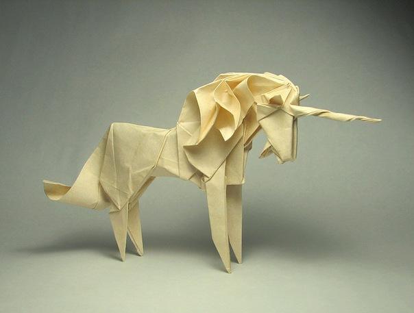 модульное оригами заяц.