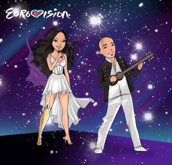 Мультипликационные образы азербайджанских звезд конкурса «Евровидение» – ФОТО