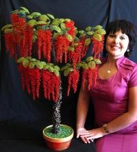 """=Арт-студия  """"FLORIKA """" - бисерная флористика, деревья и цветы из бисера!"""