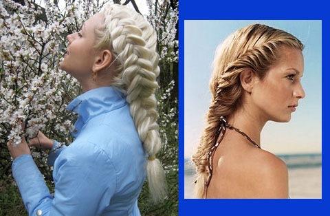 Косы с лентами.  Как вплести в косу ленту?