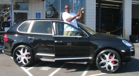 Rapper Richie Rich has a Porsche Cayenne