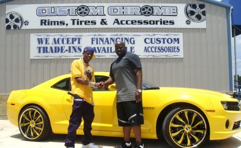 Lil Boosie and his Yellow Camaro SS
