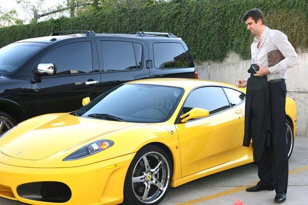 Mehmet Okur's Yellow Ferrari