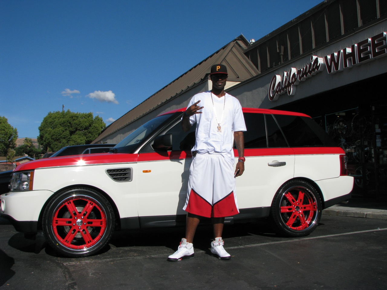 Stephen Jackson's Red Range Rover