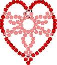 Валентинки из бисера: самая простая и элегантная схема сердечка из бисера для начинающих.