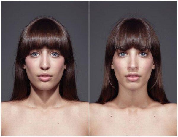 лицо человека не симетрично