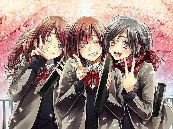 картинки аниме девушек в школе: