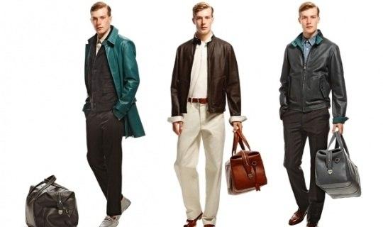 Купить кожаную сумку винтаж кежуал стиль