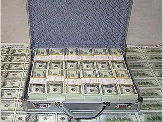 Чемодан денег.