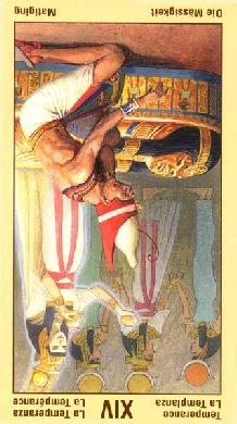 14 аркан, Умеренность (Алхимия), перевернутая карта