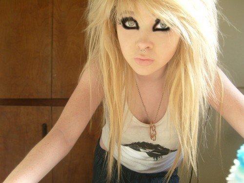 эмо девушка блондинка - 7