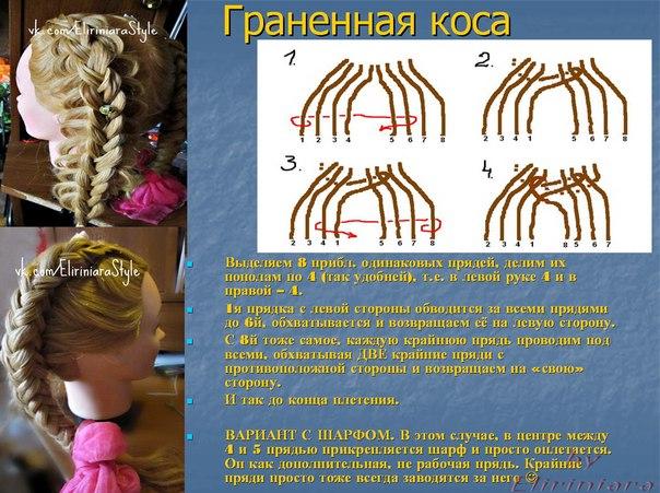 Граненая коса из 8 прядей