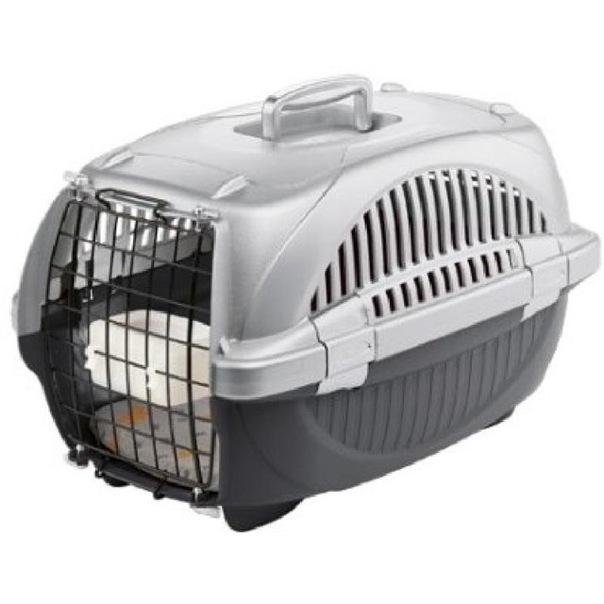Уважаемые друзья, у кого есть клетка-переноска для кошки подобного типа?