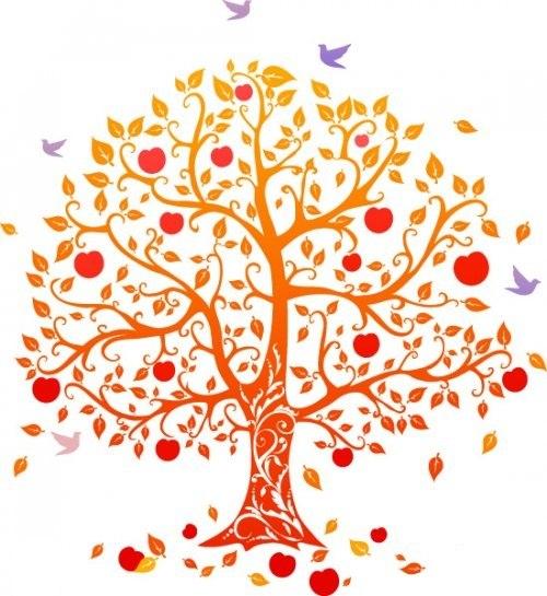 Curly tree design кудрявое дерево вектор
