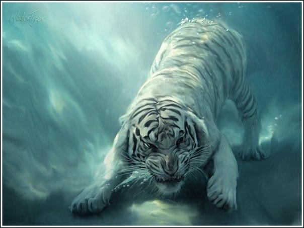 Рисунки тигров с новым годом
