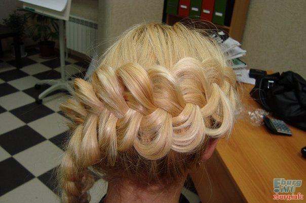 Красивые косы на средние волосы - 16