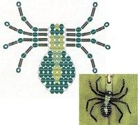 Предлагаю бонусом ещё три схемы паука из бисера, возможно, кому то будут интересны и такие варианты.