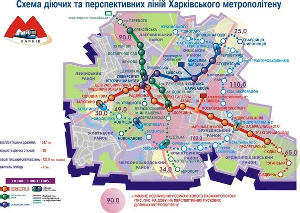 Схема линии метрополитена