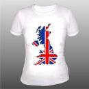 британским флагом: футболки .  Прикольные картинки.