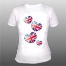 Рамый оригинальный и уместный подарок - футболка с британским флагом.