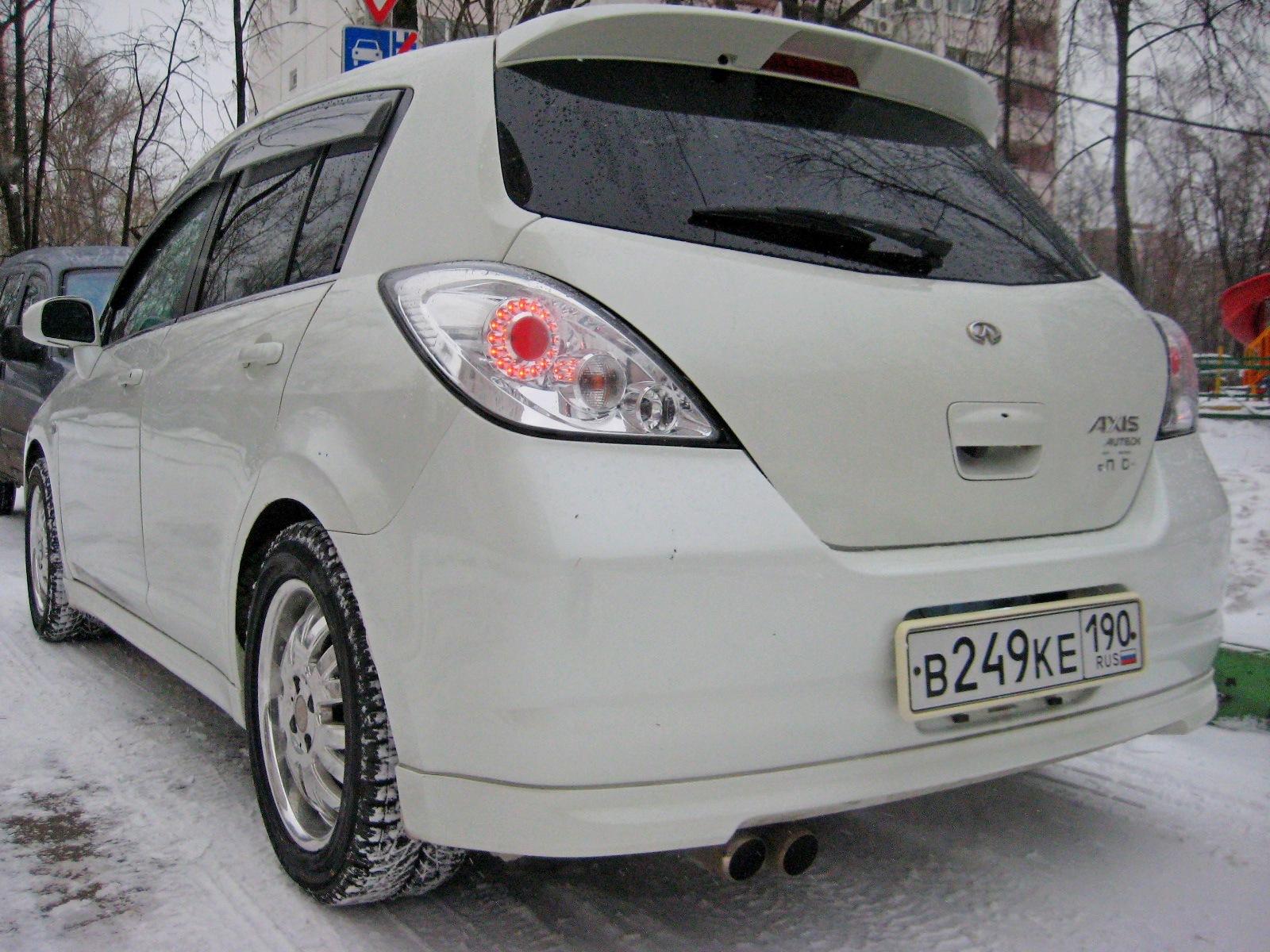 Так выглядят зимние шины Accelera Snow 205/55 R16 на Nissan Tiida Axis