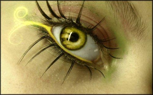 Как сделать желтые глаза 340