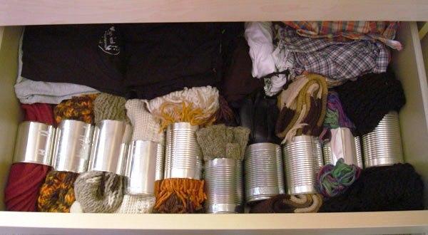Органайзер для шарфов и перчаток из