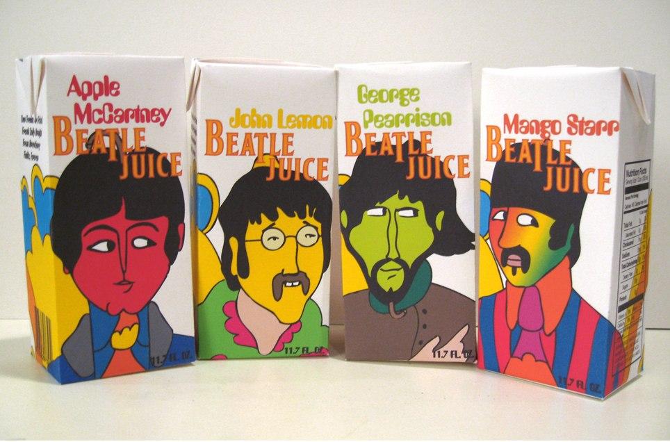 Соки «Beatle Juice» — оригинальное представление участников группы «The Beatles»