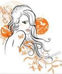 Скачать клипарт красивые нарисованные женщины и девушки в векторе.  Женщины на белом фоне с цветами и узорами.