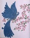 птицеедов и птицы с рыжей грудкой фото. птица синяя спина хохолок.