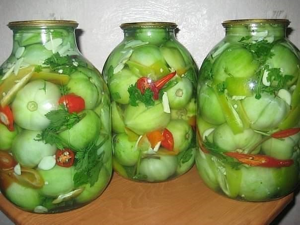 маринованные зеленые помидоры рецепт с фото