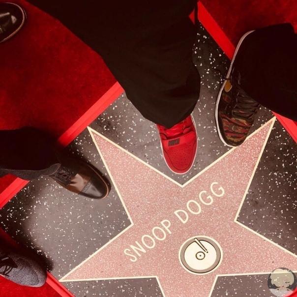 """Снуп Дог на открытии его звезды на """"Аллее Славы"""" поблагодарил самого близкого человека - себя"""